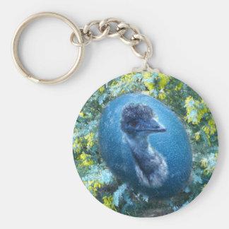 Emu  Wildlife Basic Round Button Keychain