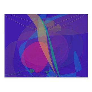 Emulación abstracta de la serigrafía azul marino tarjeta postal