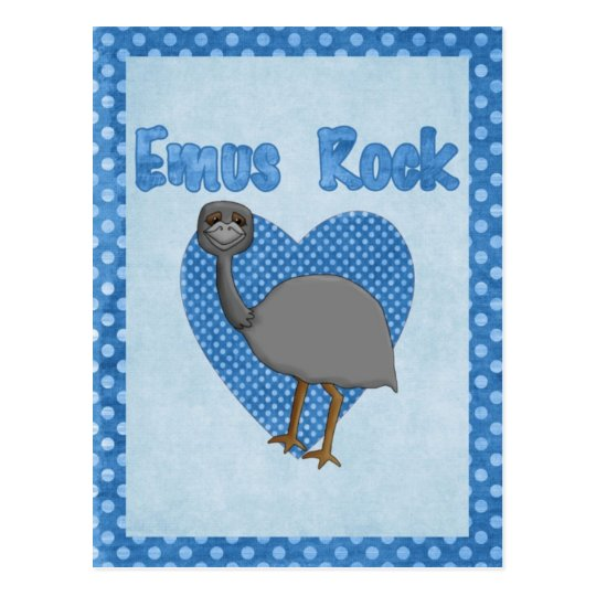 Emus Rock Postcard