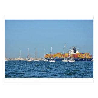EMYR Entering Port Said Postcard