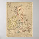 En 1100 de Angleterre, de Ecosse, de Irlande y del Poster