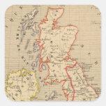 En 1100 de Angleterre, de Ecosse, de Irlande y del Pegatina Cuadrada