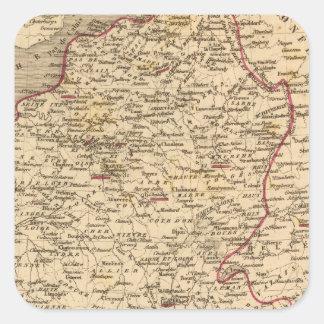 En 1809 del d'Italie del imperio Francais y de Calcomanía Cuadrada Personalizada