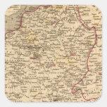 En 1809 del d'Italie del imperio Francais y de Pegatina Cuadrada