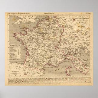 En 1809 del d'Italie del imperio Francais y de Roy Póster