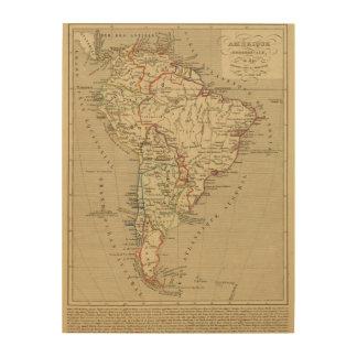 En 1840 de Amerique Meridionale Cuadro De Madera
