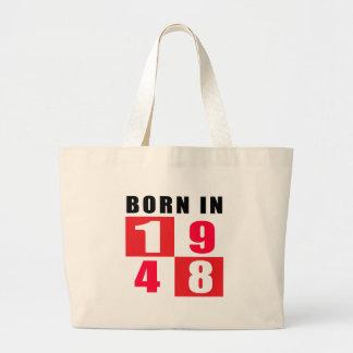 En 1948 diseños llevados del cumpleaños bolsa tela grande