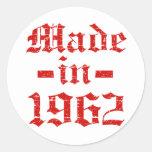 En 1962 diseños hechos pegatina redonda