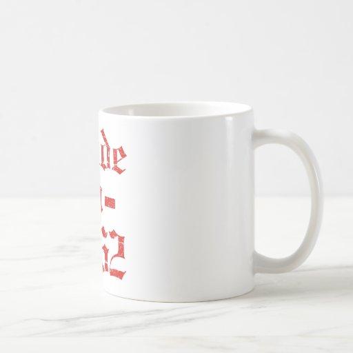 En 1962 diseños hechos taza de café
