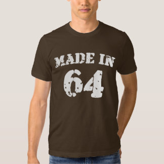 En 1964 camisa hecha