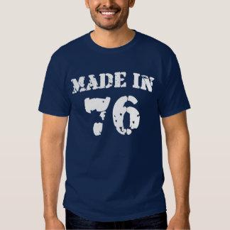 En 1976 camisa hecha