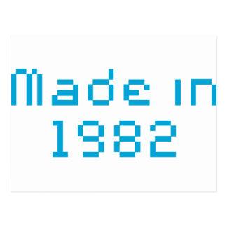 En 1982 camisa hecha postales