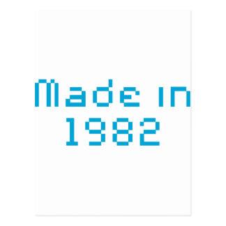 En 1982 camisa hecha tarjeta postal