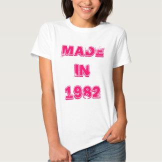 En 1982 camiseta hecha remera