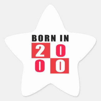 En 2000 diseños llevados del cumpleaños calcomanía forma de estrella