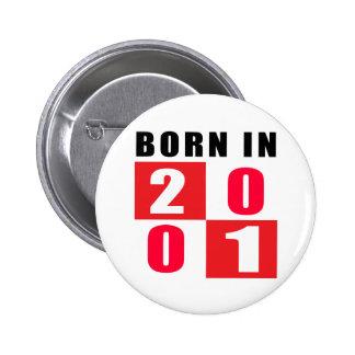 En 2001 diseños llevados del cumpleaños pin redondo 5 cm