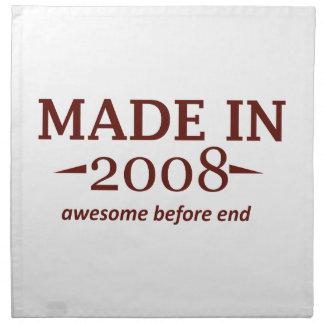 En 2008 diseños hechos del cumpleaños servilleta imprimida