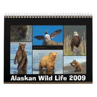 En 2009 calendario salvaje ido Alaska