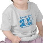 En 2014 números grandes llevados azules y V01 Camisetas
