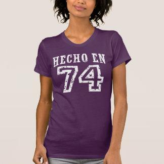 En 74 de Hecho Camiseta