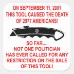 En 9-11 esta herramienta (un cortador de la caja) calcomania cuadradas personalizadas