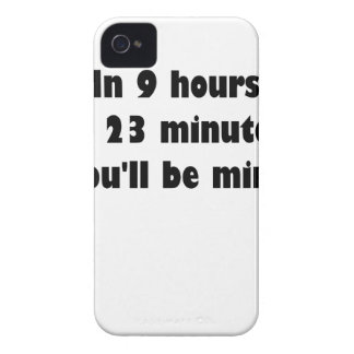 En 9 horas y 23 minutos… usted será mina iPhone 4 protector