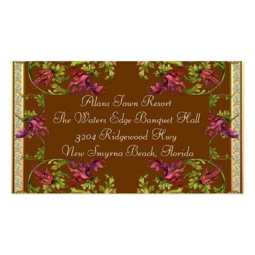 En adicional de la información de la invitación tarjetas de visita