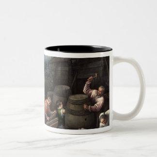 En agosto de 1595 - 1600 taza de café de dos colores