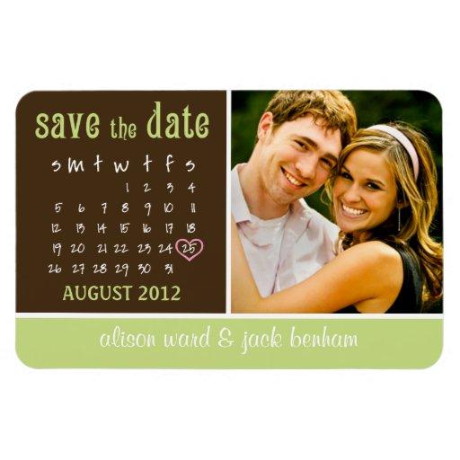 """en agosto de 2012 calendario """"reserva la fecha """" imanes flexibles"""