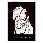 En alguna parte a tiempo soy un camello tarjeta de felicitación