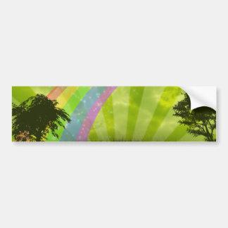 En alguna parte debajo del arco iris pegatina para auto