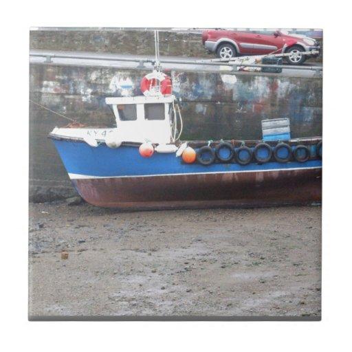 En alguna parte en Escocia: ¡Barcos! Teja Ceramica
