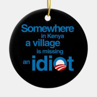 En alguna parte en Kenia, un pueblo está faltando Adorno Redondo De Cerámica