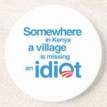 En alguna parte en Kenia, un pueblo está faltando  Posavasos Cerveza