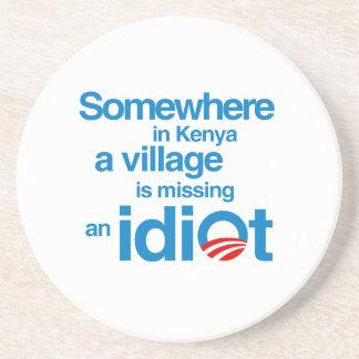 En alguna parte en Kenia un pueblo está faltando Posavasos Cerveza