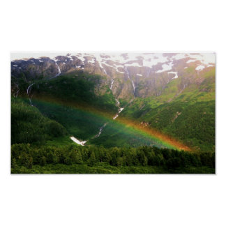 En alguna parte sobre el arco iris en Alaska Póster