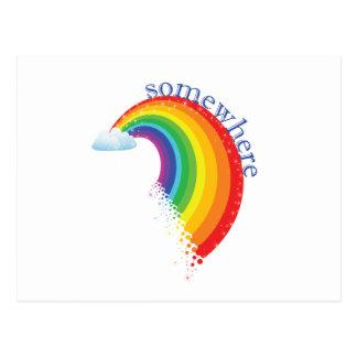 En alguna parte sobre el arco iris postales