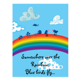 En alguna parte sobre el arco iris tarjeta postal