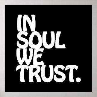 En alma confiamos en posters