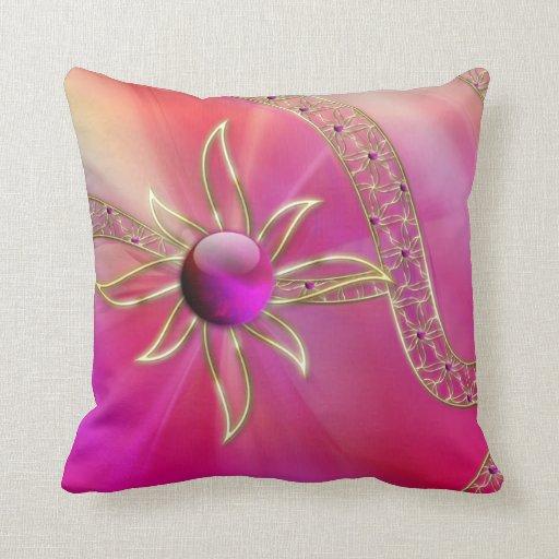 En almohada radiante del esplendor