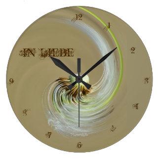"""""""en amor"""" by mysteryella reloj redondo grande"""