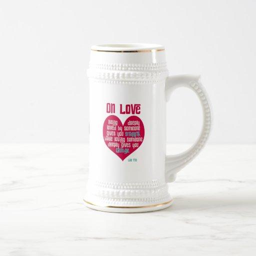 En amor. Cita del Lao Tzu Tazas