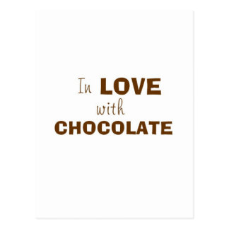 En amor con el CHOCOLATE Tarjeta Postal