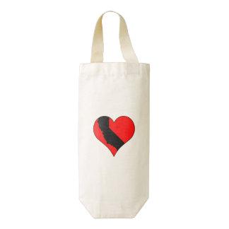 En amor con el corazón de California con el estado Bolsa Para Botella De Vino Zazzle HEART
