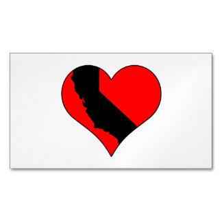 En amor con el corazón de California con el estado Tarjetas De Visita Magnéticas (paquete De 25)