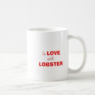 En amor con la langosta tazas de café