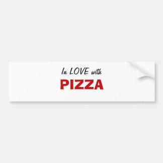 En amor con la pizza pegatina para auto