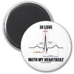 En amor con mi latido del corazón (electrocardiogr iman de nevera