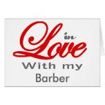 En amor con mi peluquero tarjetas