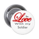 En amor con mi soldado pin